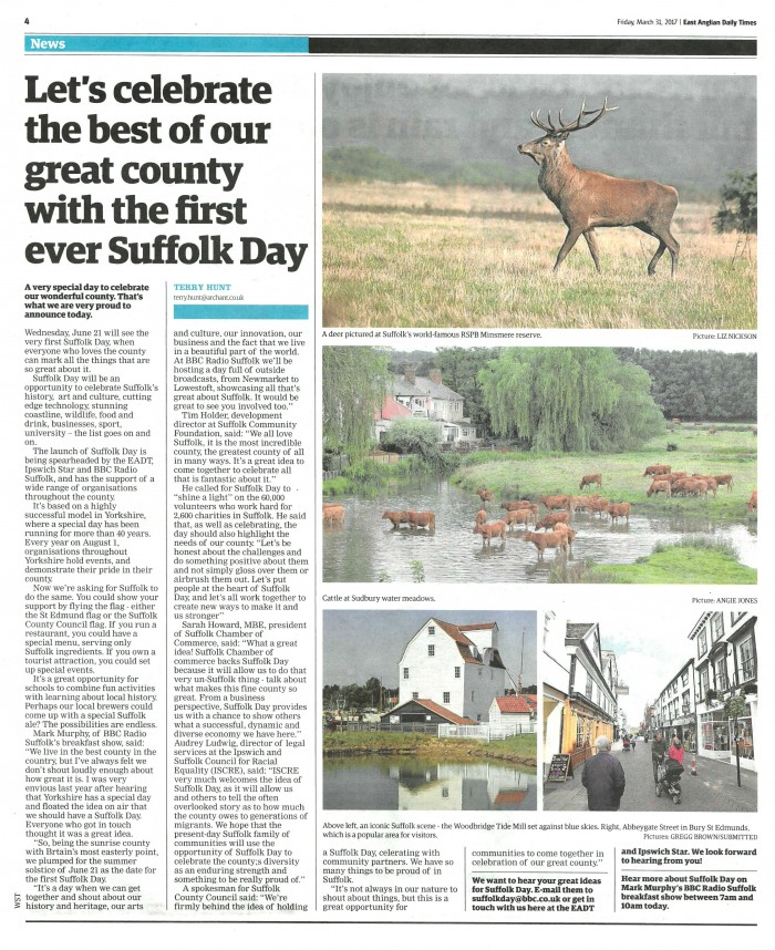 Suffolk Day Page 1
