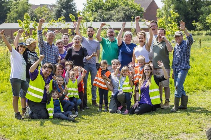 Hopkins Homes volunteers with children attending  Deben Farm 23.05.18
